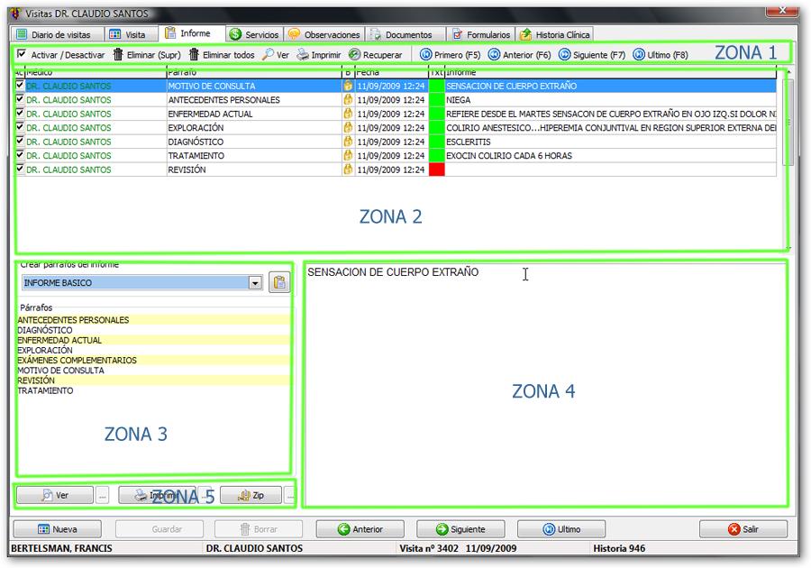 Informe se utiliza para introducir e imprimir el informe m 233 dico