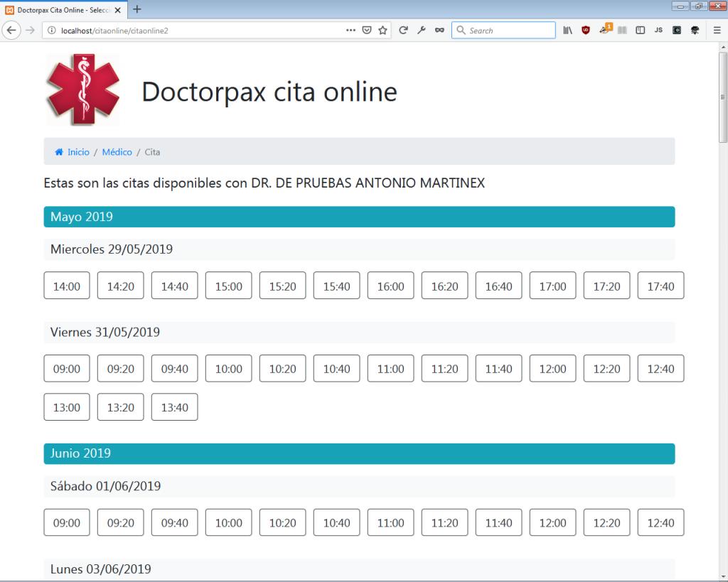 Doctorpax Cita Online